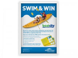 Swim and Win A1 Poster